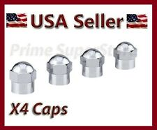 NEW 4PCS CHROME HEX AIR VALVE STEM CAPS FOR MOTORCYCLE CAR BIKE METAL DUST COVER