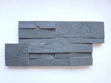 pièces de patron le naturel Schistes brique murale anthracite lanières 18X35CM