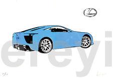 LEXUS LFA HIT+RUN SILKSCREEN PRINT Rare Exclusive Promotional Art 2009 SEMA Day3