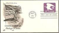 US Scott # U592 Eagle FDC. Artcraft cachet.