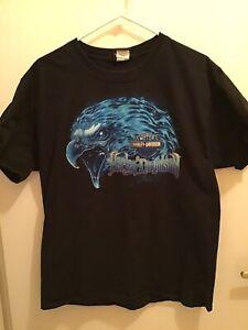Harley Davidson t-shirt, large. Black, blue eagle. Buddy Stubbs Phoenix AZ