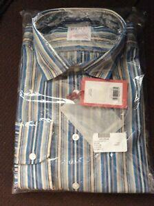 Thomas Pink Men's Short Cotton Dress Shirt NWT 16x41