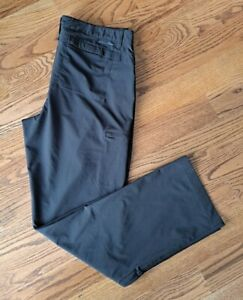 Eddie Bauer Hiking Outdoor Camping Travel Roll Up Pants Women's Size 14 Black