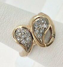 14K Yellow Gold .33tcw Ladies Diamond Modernist Ring Size 6.5