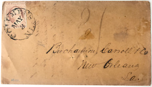 US#11a 3c 1851 United States Cover with stamp Columbus, Miss to New Orleans, La