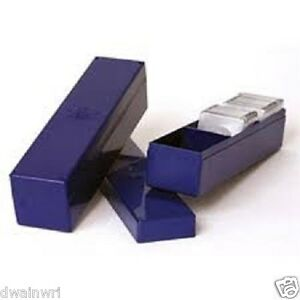 """TEN Coin Storage Boxes: Blue Plastic,single row with 3 compartments(Size 2¼""""X9"""")"""