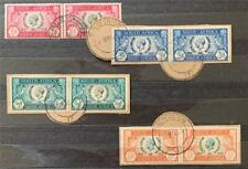 More details for south africa. 1935 george v. silver jubilee set. sg65/68. fine used. #ts402