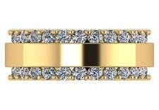 3.00 ct F VS2 round diamond mens' eternirty wedding ring 18k yellow gold 9mm