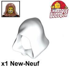Lego - 1x Minifig headgear cagoule hood assassin's creed blanc/white 30381 NEUF