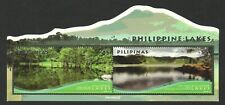 PHILIPPINES 2018 LAKES OF PHILIPPINES ODD SHAPED SOUVENIR SHEET OF 2 STAMPS MINT