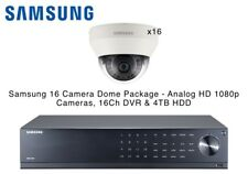 Samsung 16 Dome Cameras HD 1080p Analogue & 16Ch DVR 4TB HDD Smart Phone Viewing