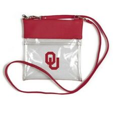 OKLAHOMA SOONERS CLEAR GAME DAY CROSSBODY BAG STADIUM APPROVED VEGAN LEATHER
