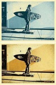 Shepard Fairey Jeff Ho Glen Friedman Zephyr Gold & Blue Signed Numbered Prints