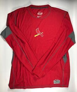 St. Louis Cardinals Nike Pro Combat Thermalite Dri Fit Long Sleeve Shirt 4XL New