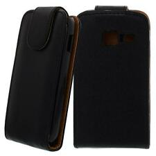 Para Samsung Galaxy y duos/s6102 negro-piel sintética bolso, funda para móvil, Case, saltar, saltar