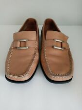 TODS Womens Casual Tan Leather Driving Moccasin Slip On Penny Loafers Size 39