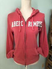 Abercrombie Girls Juniors Women's Full Zip Hoodie Jacket Pink Size Large L