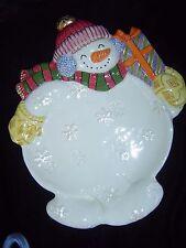 Fitz & Floyd Classics Frosty Folks Snowman Canape