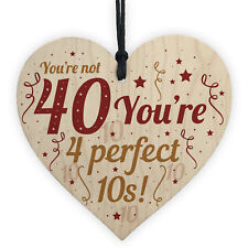 Funny 40th Birthday Gifts For Women Men Card Wooden Sign Novelty Gift For Friend