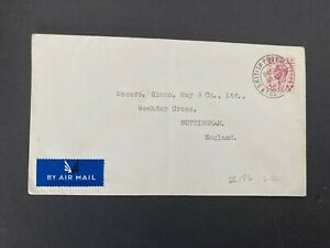 Postal History GB GVI  Cover British Post Office Tangier 18th March 1943 PM