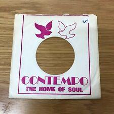 "One 7"" -- Contempo --Original Record  Sleeve"