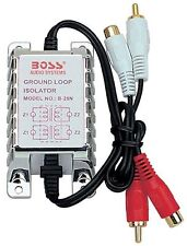 Boss Audio B25N RCA To RCA Ground Loop Isolator Noise Audio Filter Stereo Amp