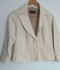 Designer REISS Cuba Jacket Blazer size M Ivory --BRAND NEW--