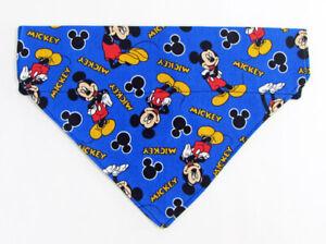 Mickey Mouse Dog Bandana, Over the Collar dog bandana, Dog collar bandana,puppy