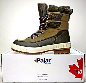 Pajar Women's Waterproof Kamira Snow Boots size 7-7.5 Brown & Tan
