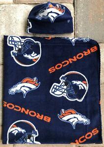 Denver Broncos NFL Fleece Newborn Infant Baby Receiving Blanket & Hat Gift Set