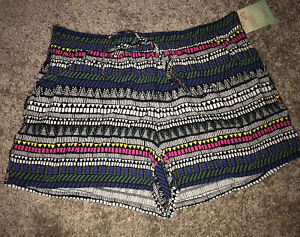 NWT Colorful Printed Casual Shorts From Bebop Junior Size Large!