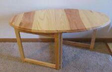 Compact FOLDING END & COFFEE TABLE Beautiful Natural Hardwood RV Boat Home USA