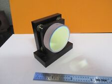 OPTICAL COATED MOUNTED CONCAVE MIRROR LASER OPTICS AS PICTURED &27-A-50