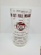 Vintage advertising measuring glass - Edward Don & Company (1387)
