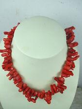 Strang echte Koralle, 45cm Kette, bis 3 cm Natur gewachse Äste rot Halskette E