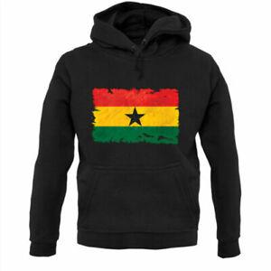 Ghana Grunge Style Flag - Hoodie / Hoody - Ghanaian - Country - Travel - Flags