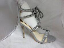 Silk Rope Knot Gladiator Sandal-Grey RRP£40 UK6 EU39 JS24 26