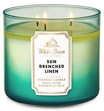 Bath & Body Works / White Barn Sun-Drenched Linen 3-Wick Candle