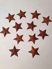 "12 Rusty Tin Stars With Hole 2-1/4"" Farmhouse/Prim Crafts Ornaments"