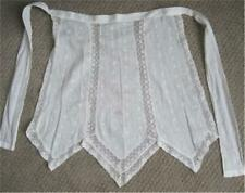 vintage Lace trimmed Apron Embroidered Dainty Cotton Ties at Waist so sweet!