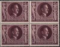 Stamp Germany Mi 848 Sc B235 Block 1943 WW2 3rd Reich Adolf Birthday MNH