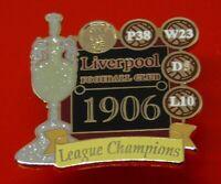 Danbury Pin Badge LFC Liverpool Football Club FC League Champions 1906