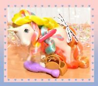 ❤️My Little Pony MLP G1 Vtg Bouquet Brush 'n Grow Unicorn Long Hair & BRUSH❤️