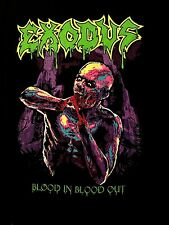 EXODUS cd cvr BLOOD IN BLOOD OUT GREEN LOGO Official SHIRT XL new