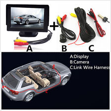 """Car Rearview Backup 8LED Night Vision Camera+4.3"""" LCD Screen Monitor Display Kit"""