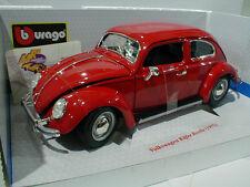 """Bburago 18-12029 # Volkswagen Käfer Beetle Baujahr 1955 in """" rot """"  1:18 NEU"""