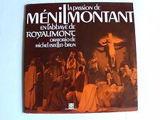 LA PASSION de MENILMONTANT de MICHEL ESTELLET-BRUN LP (dedicace) MOTETTE M 5006