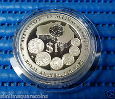 1996 Australia $1 30th Anniversary of Decimal Currency 1 oz Silver Proof Coin