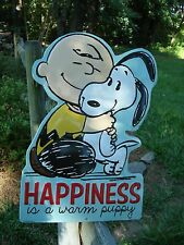 SNOOPY CHARLIE BROWN METAL SIGN peanuts puppy comic poster dog love art blue red