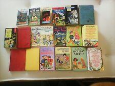 19 Enid Blyton Vintage Hardback And Paperback Children Books
